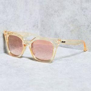 Quay Harper Sunglasses Mirrored Lense Cat Eye Gold